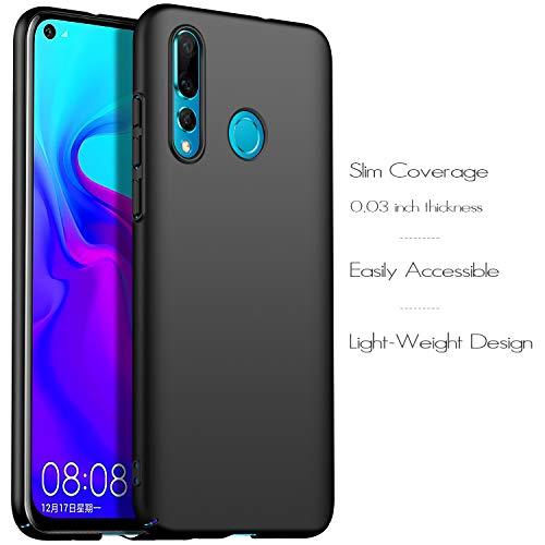 anccer Kompatibel mit Huawei Nova 4 Hülle, [Serie Matte] Elastische Schockabsorption und Ultra Thin Design (Glattes Schwarzes) - 6