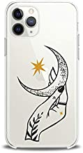 Lex Altern Case Compatible with iPhone 12 Mini 5G 11 Pro Xs Max Xr 8 X 7 Plus 6 SE 5 Touch Moon Print Gold Star Smooth Cover Black Dots Soft Slim fit Lightweight Cellestial Clear Women Design Girls