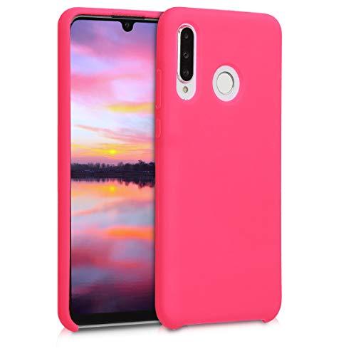kwmobile Hülle kompatibel mit Huawei P30 Lite - Hülle Handyhülle gummiert - Handy Hülle in Neon Pink