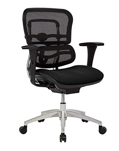 WorkPro 12000 Series Ergonomic Mesh/Fabric Mid-Back Manager's...