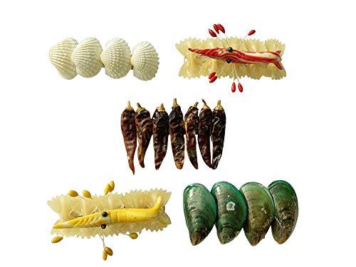 Food Haarclips, set van 5 stuks, haarklemmen, haarsieraden, barretjes, haarclips
