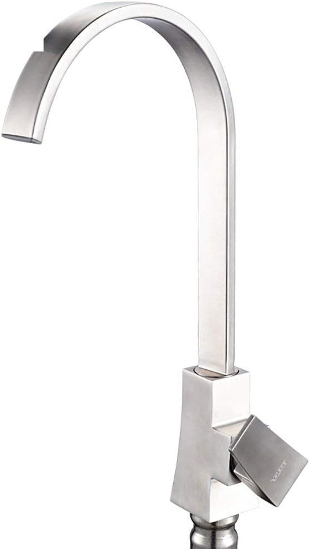 Oudan Stainless steel kitchen faucet Sink heat sink faucet Wash basin faucets redatable faucet (color   -, Size   -)