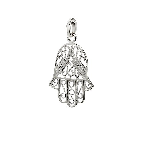NKlaus 925 Sterling Silver Pendant Hand of Fatima / Eye of Fatima Charm 19x15mm 5022