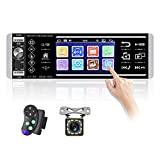 """AMPrime Single Din Car Stereo Radio 4.0"""" Touch Screen FM Bluetooth Car Player Support Voice Control/RDS/4 USB Input/ Mirror Link for Phone + Backup Camera /Steering Wheel Control"""