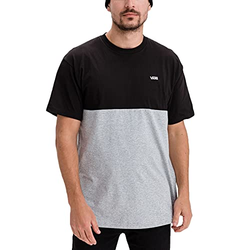 Vans Colorblock tee - Camiseta para Hombre , Negro (Black/athletic Heather), X-Large