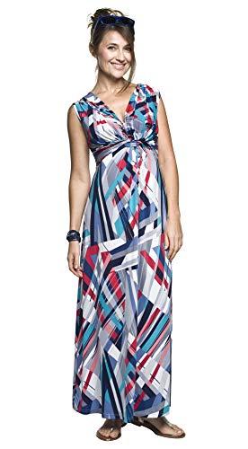Zomerjurk, maxi-jurk voor zwangere en niet-zwerende dames, borstvoedingsjurk, omstandjurk, model: Debora