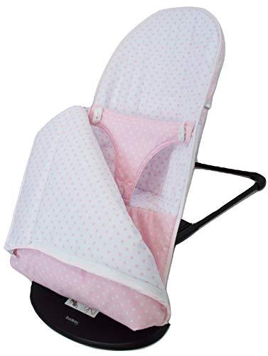Funda y SACO para Hamaca BabyBjörn Balance Soft (Sustituye tapicería original). Varios diseños disponibles (Estrellas rosa)