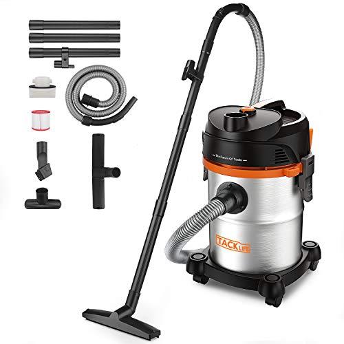TACKLIFE Nass und Trockensauger, 20L 1200W Industriesauger, 18.5kpa, ideal für Zuhause, Auto und Werkstatt