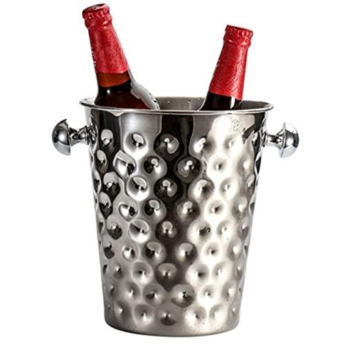 DMAI 5L Creative Hammer Point Ice Bucket Cubo de Hielo Enfriador de champán de Acero Inoxidable
