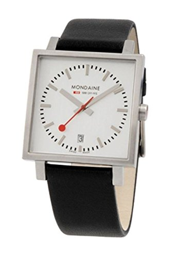 Mondaine EVO Big Square Unisex Reloj de Pulsera 36x 36mm Cuarzo a6613034316sbb