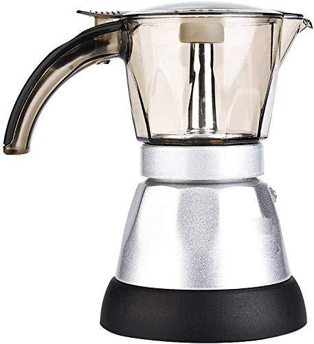 ZHDWM koffie is 150 ml / 300 ml Mokka koffiezetapparaat 220 V Italiaans mokka koffiezetapparaat filter Percolator koffiekan heffen, van huishoudelijke apparaten, 150 ml handmatig koffiezetapparaat