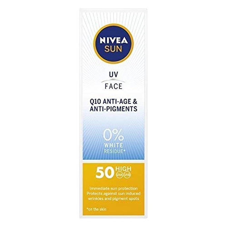 風変わりな請う平和的[Nivea ] ニベアサンUvフェイスSpf 50 Q10抗加齢&抗顔料50ミリリットル - NIVEA SUN UV Face SPF 50 Q10 Anti-Age & Anti-Pigments 50ml [並行輸入品]