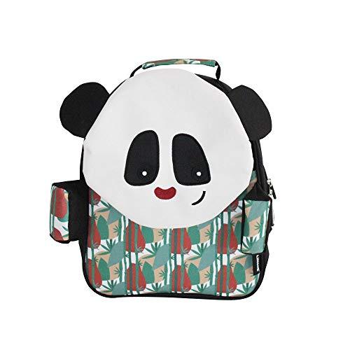 LES DEGLINGOS Petit sac à dos Rototos le panda Zainetto per bambini 30 centimeters Multicolore (Noir Et Blanc)