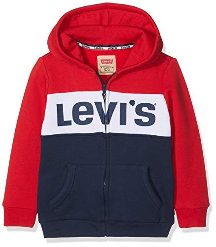 Levi's Kids Baby-Jungen Cardigan NM17014 Kapuzenpullover, Rot (Vermilion 36), 9-12 Monate (Herstellergröße: 12M)