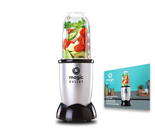 MagicBullet 200 W Silver - Mini Mixer and Chopper Makes Superfood From Simple Foods - Versatile Stand Mixer for Daily Vitamin Kick - 3-Piece