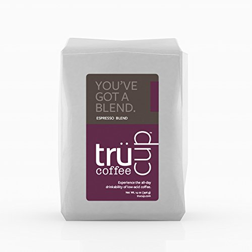 trücup Low Acid Coffee- You've Got a Blend Espresso -French Press Coarse Ground- 2 lb- Smooth, Dark Roast - Can Be Gentle on the Stomach