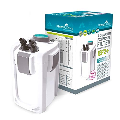 Aquarium Fish Tank External Canister Filter - 9w UV Steriliser - FREE Media...