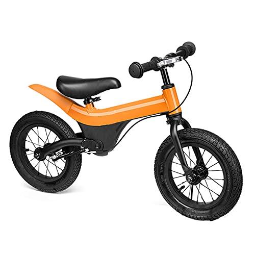 Bicicletas sin pedales, Bicicleta Para Bicicletas De Balance De Niños Pequeños, Sin Pedal De 12 Pulgadas Scooter De Dos Ruedas, Cochecito De Scooter De Caminar Ligero Para Bebé De 2-6 A(Color:naranja)