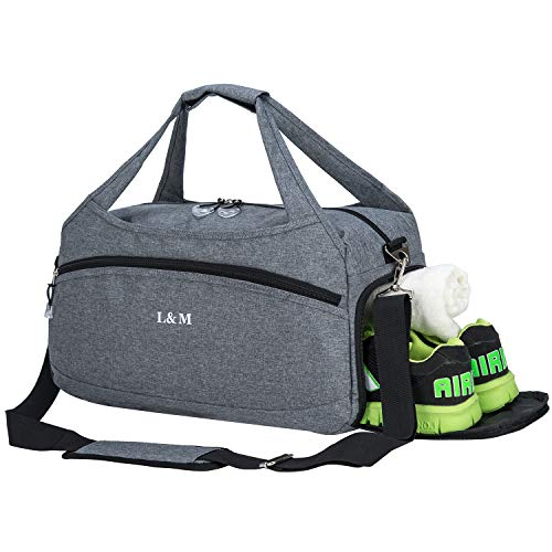 Kuston Gym Bag with Shoes Compartment Sport Bag Duffel Bag for Men&W
