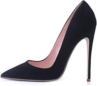 Elisabet Tang High Heels, Women Pumps Pointed Toe Stilettos 4.7 inch/12cm Sexy Heels Party Shoes
