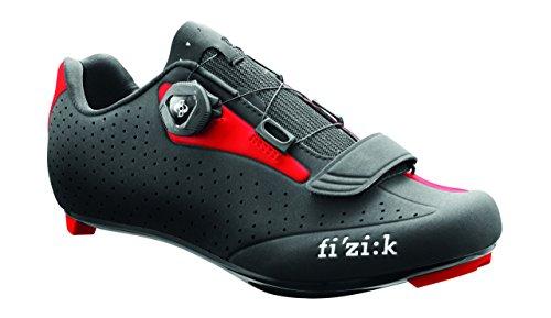 Fizik R5 UOMO Boa Zapatillas de Ciclismo de Carretera, Hombre, R5M-BC1030-16-46, Negro y Rojo, 46 EU