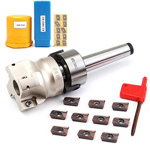 SHIJING Nieuwe Molen Snijder M10 & 50mm Gezicht Einde + 10 stks Carbide Invoegen APMT1604 Molen Frezen Snijder Invoegen Kit Machine Gereedschap