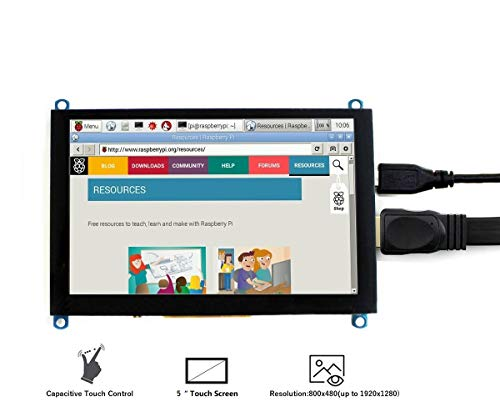 IBest Waveshare 5 inch Capacitive TFT Touch Screen 800x480 TFT LCD Display H HDMI Module for Raspberry Pi/Jetson Nano/Banana Pi/PC Windows 10/8.1/8/7 Support Microsoft XBOX360/Sony PS4/Nintendo Switch