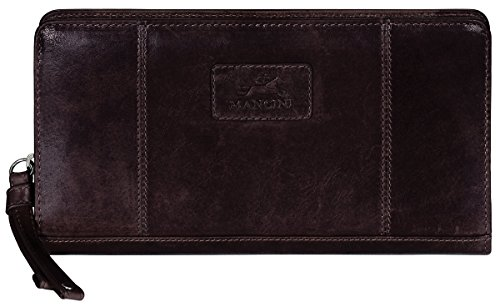 Mancini Leather Goods Casablanca Collection: Ladies' Small RFID Clutch Wallet