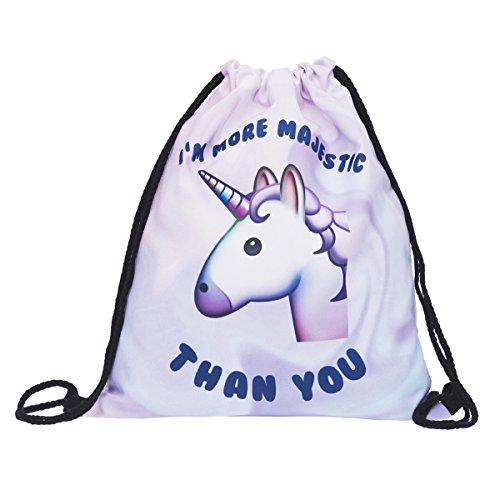 Bolso de unicornio con cordón, SEARCHALL Bolso de entrenamiento deportivo de gimnasio Mochila...