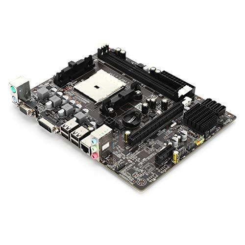 Placa base para computadora de escritorio A55FM1, Tarjeta Madre A55 / A57 de 905 pines, (DDR3 1066/1333/1600 MHz, PCI-E, SATA2.0, USB 2.0, RJ45, PS / 2USB 2.0, 4 fases, CR2032L, Liano A8 / A6 / A4)