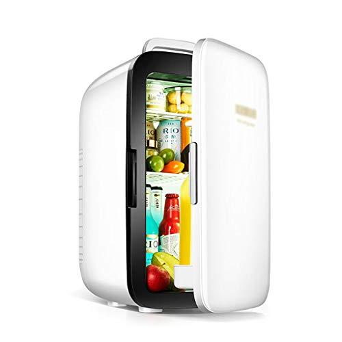 Mini frigo de Chambre, Mini Frigo De Chambre Thermostat Portable Et Le Refroidisseur Électrique Chauffe (4L / 6 Cans) AC Box Boissons Abs Matériel (Color : Blanc, Size : 31 * 34 * 51cm)