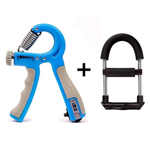 Hand Grip Strengthener Set Met Graaf Display Instelbare Range 10-40 KG, Atleten & Musicians Krachttraining Stress Relief Hand Trainer R/20/04/28 (Color : Blue)