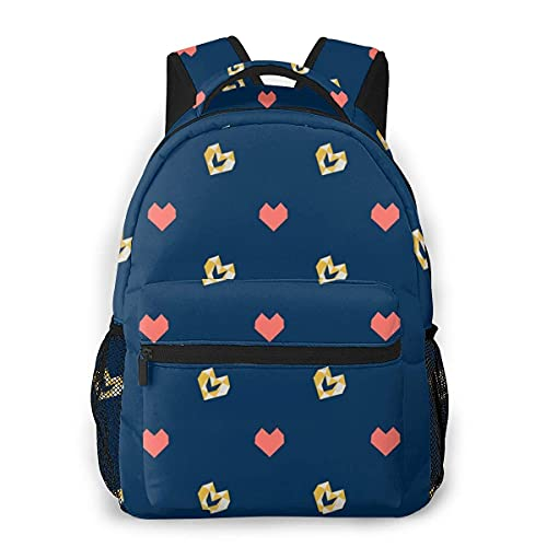Lawenp Mochila Unisex de Moda Mochila de corazón Lindo Mochila Ligera para portátil para Viajes Escolares Acampar al Aire Libre