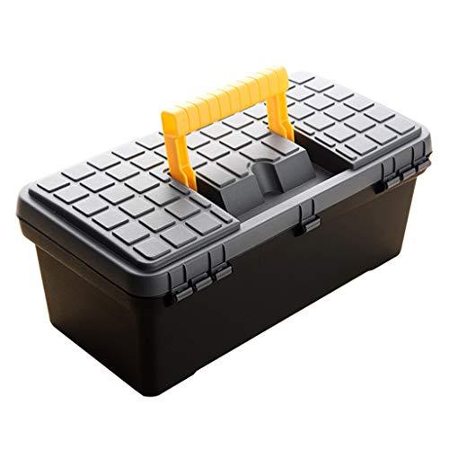 Caja de herramientas multifunción de almacenamiento de herramientas de plástico doble con mango