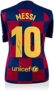 Lionel Messi Autographed Jersey - Home #10 - Icons COA - Autographed Soccer Jerseys