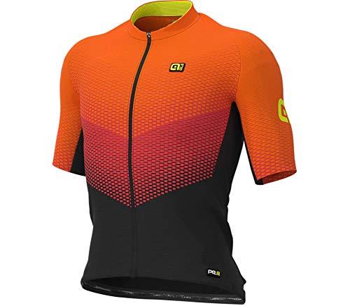 Alé Cycling Graphics PRR Delta Kurzarm Trikot Herren Black/red/Fluo orange Größe M 2020 Radtrikot kurzärmlig