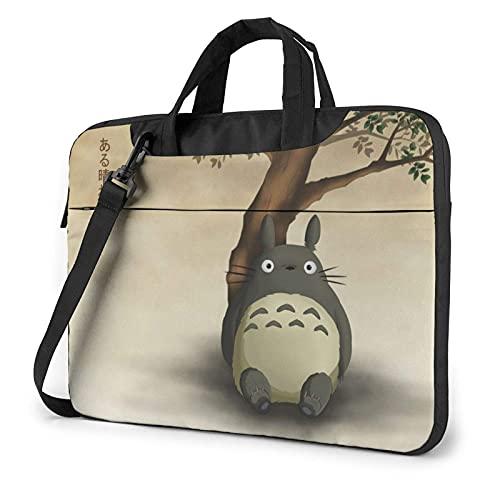 XCNGG Anime Tonari no to-Toro Laptop Bag Tablet Portable Briefcase Protective Case Cover Messenger Bags 14 inch