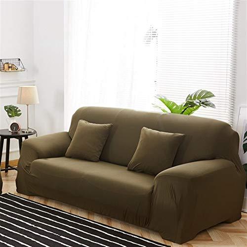 HNXCBH Funda de sofá de color sólido Fundas de sofá para sala de estar Stretch Slipcovers Material elástico Funda de sofá de esquina Funda de sofá doble asiento tres asientos