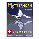 Poster Matterhorn Zermatt Switzerland Ski-Poster –