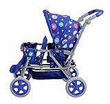 Knorrtoys 16612Landau pour poupée Big Twin Splash, Bleu