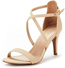 FITTING TIPS: Run Big, please order half size smaller, narrow feet customer please order one size smaller. Heel measures approximately 3 inches Platform height: 0.25 inches (Approx) TPR rubber out-sole Finished with a slightly padded faux leather ins...