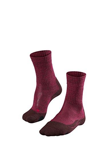 FALKE TK2 Wool Chaussettes Femme, Burgundy, 39-40