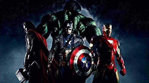 ZGPTOP Rompecabezas Iron Man Hulk Guardianes De La Galaxia América Capitán Spider Man Puzzle De Desafío Cerebral para Niños 300/500/1000/1500 Piezas, 2 Estilos (Color : B, Size : 1500P)