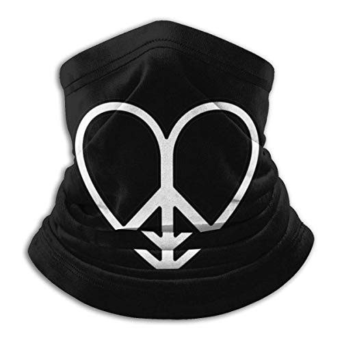 Herz, Liebe, Frieden, Rechte Symbol Mikrofaser Halswärmer Schal Gamasche Kopfbedeckung Gesichtsbedeckung Bandanas