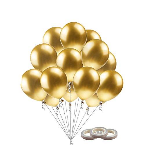 Globos Metalizados, Globos De Helio, 50 Piezas Globo de Fiesta para Decoraciones de Cumpleaños,Navidad, Aniversario, Boda Graduación Halloween Decoraciones
