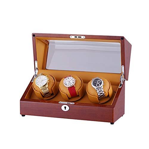 AYYEBO Caja Giratoria para 3 Relojes Automatico, Epítopo Control Independiente, Almohadas Suaves y Flexibles para Relojes, Motor Súper Silencioso