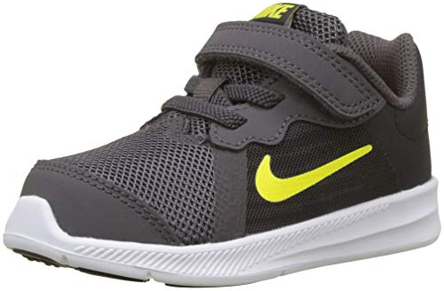 Nike Unisex Baby Downshifter 8 (TDV) Hausschuhe, Mehrfarbig (Thunder Grey/Dynamic Yellow-Oil Grey 008), 21 EU