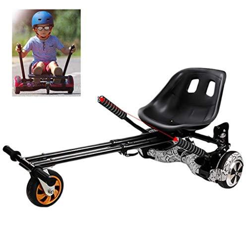 RONGJJ Hoverboard, Hoverboard Seat Kart, Soporte Autoequilibrado para Automóvil Y Amortiguadores Dobles Compatibles para Adultos, Niños, Lo último En Seguridad con Classic 6.5 Pulgadas, Black