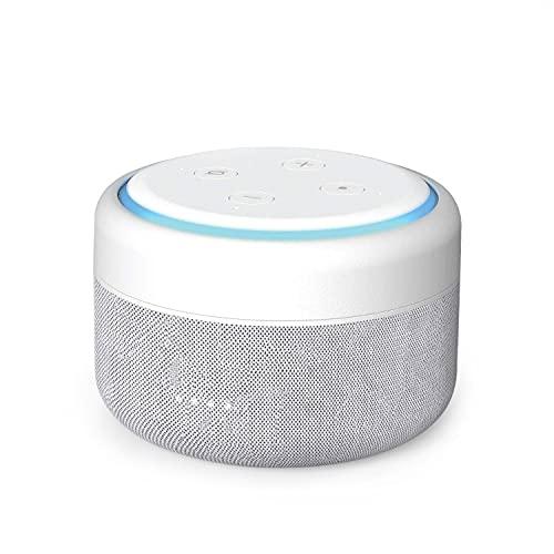 Bateria Echo Dot 3, Base de Batería Portátil para Amazon Echo Dot 3ª Generación Altavoz Inteligente, hasta 12 Horas de Reproducción (Echo Dot no Incluido) - Blanco