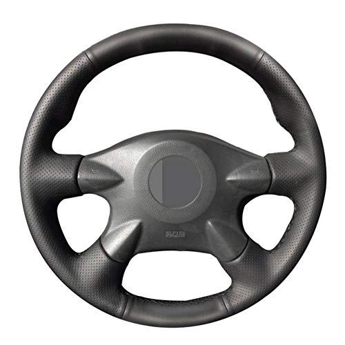 YHDNCG Cubiertas de la Rueda de Cuero Cosido a Mano DIY Negro de dirección, para Nissan Almera N16 X-Trail T30 Primera P12 Terrano 2 Pathfinder Paladín Trenzado